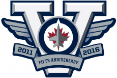 Winnipeg Jets 2015 16 Anniversary Logo iron on sticker