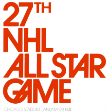 NHL All-Star Game 1973-1974 Logo iron on sticker