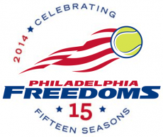 Philadelphia Freedoms 2014 Anniversary Logo decal sticker