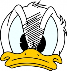 Donald Duck Logo 03 iron on sticker