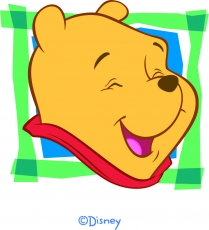 Disney Pooh Logo 05 iron on sticker