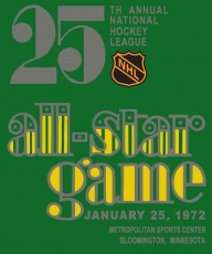 NHL All-Star Game 1971-1972 Logo iron on sticker