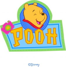 Disney Pooh Logo 21 iron on sticker