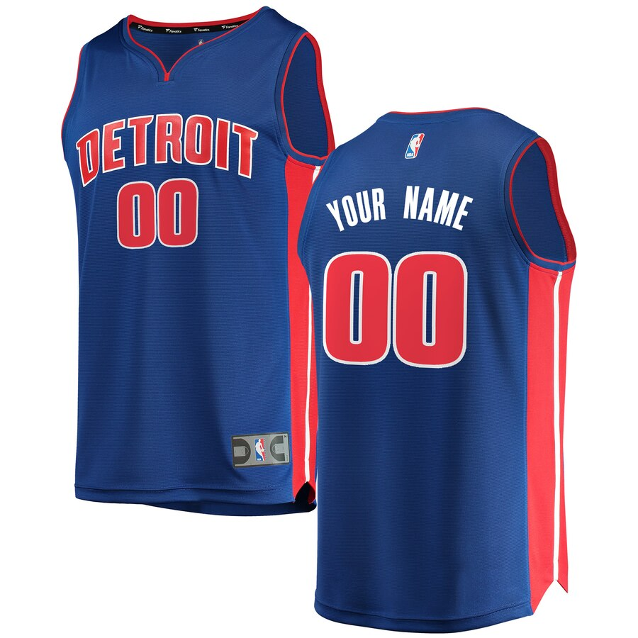 Detroit Pistons Custom Letter and Number Kits for Blue Jersey