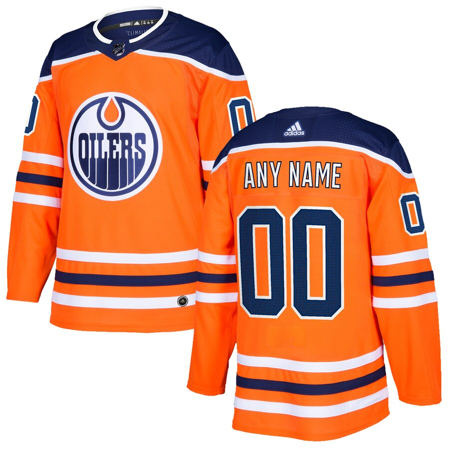 Edmonton Oilers Custom Letter and Number Kits for Orange Jersey